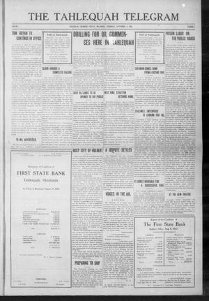 Primary view of object titled 'The Tahlequah Telegram (Tahlequah, Okla.), Vol. 1, No. 3, Ed. 1 Thursday, September 4, 1913'.