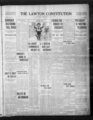Primary view of object titled 'The Lawton Constitution (Lawton, Okla.), Vol. 13, No. 284, Ed. 1 Monday, July 12, 1915'.