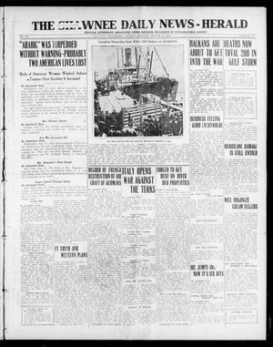 Primary view of The Shawnee Daily News-Herald (Shawnee, Okla.), Vol. 21, No. 81, Ed. 1 Sunday, August 22, 1915