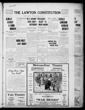 Primary view of object titled 'The Lawton Constitution (Lawton, Okla.), Vol. 16, No. 135, Ed. 1 Saturday, January 13, 1917'.