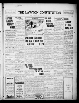 Primary view of object titled 'The Lawton Constitution (Lawton, Okla.), Vol. 16, No. 139, Ed. 1 Thursday, January 18, 1917'.