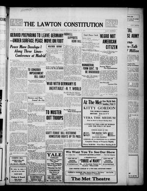 Primary view of object titled 'The Lawton Constitution (Lawton, Okla.), Vol. 16, No. 158, Ed. 1 Friday, February 9, 1917'.