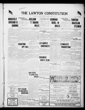 Primary view of object titled 'The Lawton Constitution (Lawton, Okla.), Vol. 16, No. 218, Ed. 1 Friday, April 20, 1917'.