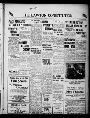 Primary view of object titled 'The Lawton Constitution (Lawton, Okla.), Vol. 16, No. 231, Ed. 1 Saturday, May 5, 1917'.