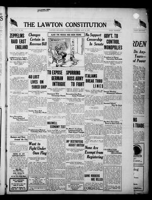 Primary view of object titled 'The Lawton Constitution (Lawton, Okla.), Vol. 16, No. 247, Ed. 1 Thursday, May 24, 1917'.