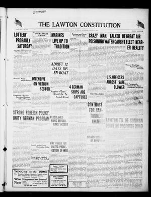 Primary view of object titled 'The Lawton Constitution (Lawton, Okla.), Vol. 16, No. 291, Ed. 1 Tuesday, July 17, 1917'.