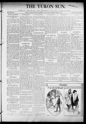 Primary view of The Yukon Sun. (Yukon, Okla.), Vol. 28, No. 28, Ed. 1 Thursday, April 13, 1922
