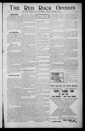 Primary view of object titled 'The Red Rock Opinion (Red Rock, Okla.), Vol. 5, No. 12, Ed. 1 Friday, October 25, 1907'.
