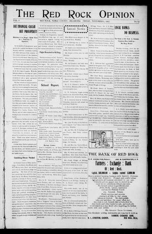 Primary view of object titled 'The Red Rock Opinion (Red Rock, Okla.), Vol. 5, No. 13, Ed. 1 Friday, November 1, 1907'.