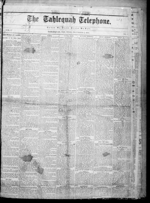 Primary view of The Tahlequah Telephone. (Tahlequah, Indian Terr.), Vol. 1, No. 2, Ed. 1 Friday, December 2, 1887