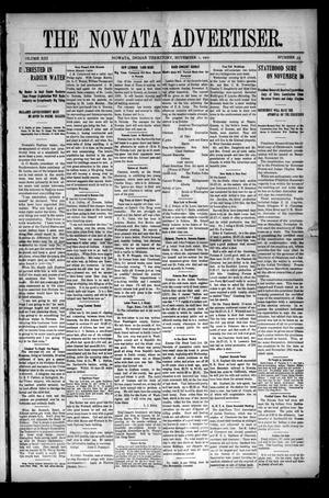 Primary view of object titled 'The Nowata Advertiser. (Nowata, Indian Terr.), Vol. 13, No. 33, Ed. 1 Friday, November 1, 1907'.