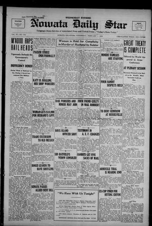 Primary view of Nowata Daily Star (Nowata, Okla.), Vol. 11, No. 116, Ed. 1 Wednesday, February 1, 1922
