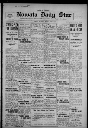 Primary view of Nowata Daily Star (Nowata, Okla.), Vol. 11, No. 239, Ed. 1 Monday, June 26, 1922