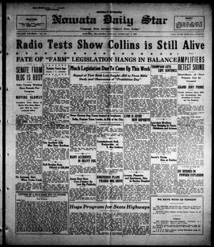 Primary view of Nowata Daily Star (Nowata, Okla.), Vol. 16, No. 261, Ed. 1 Monday, February 9, 1925