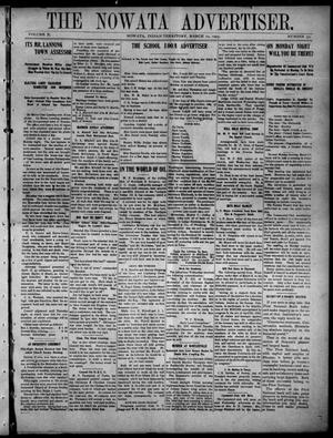 Primary view of The Nowata Advertiser. (Nowata, Indian Terr.), Vol. 10, No. 50, Ed. 1 Friday, March 10, 1905