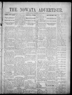 Primary view of object titled 'The Nowata Advertiser. (Nowata, Indian Terr.), Vol. 10, No. 25, Ed. 1 Friday, September 16, 1904'.