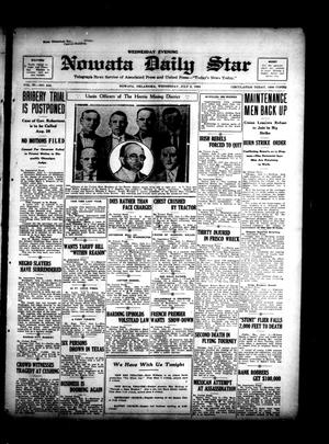 Primary view of object titled 'Nowata Daily Star (Nowata, Okla.), Vol. 11, No. 246, Ed. 1 Wednesday, July 5, 1922'.