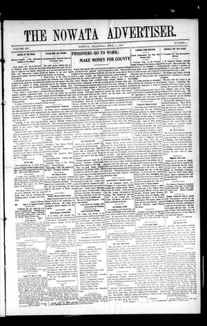Primary view of object titled 'The Nowata Advertiser. (Nowata, Okla.), Vol. 14, No. 5, Ed. 1 Friday, April 17, 1908'.