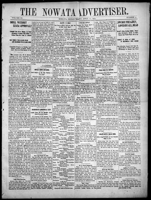 Primary view of object titled 'The Nowata Advertiser. (Nowata, Indian Terr.), Vol. 11, No. 4, Ed. 1 Friday, April 21, 1905'.