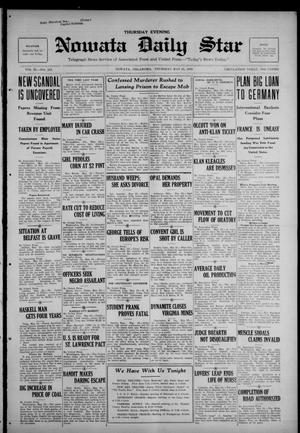 Primary view of Nowata Daily Star (Nowata, Okla.), Vol. 11, No. 213, Ed. 1 Thursday, May 25, 1922