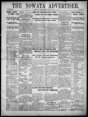 Primary view of object titled 'The Nowata Advertiser. (Nowata, Indian Terr.), Vol. 11, No. 1, Ed. 1 Friday, March 31, 1905'.