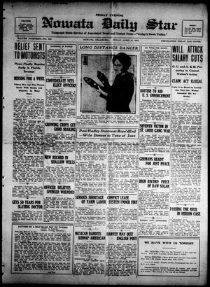 Primary view of Nowata Daily Star (Nowata, Okla.), Vol. 14, No. 177, Ed. 1 Friday, April 13, 1923