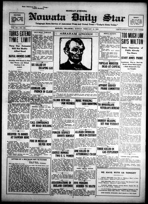 Primary view of Nowata Daily Star (Nowata, Okla.), Vol. 14, No. 125, Ed. 1 Monday, February 12, 1923
