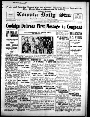 Primary view of Nowata Daily Star (Nowata, Okla.), Vol. 15, No. 297, Ed. 1 Thursday, December 6, 1923
