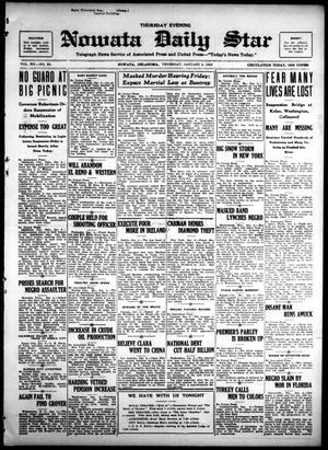 Primary view of Nowata Daily Star (Nowata, Okla.), Vol. 14, No. 92, Ed. 1 Thursday, January 4, 1923