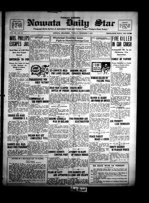 Primary view of Nowata Daily Star (Nowata, Okla.), Vol. 12, No. 67, Ed. 1 Tuesday, December 5, 1922