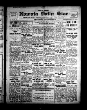 Primary view of object titled 'Nowata Daily Star (Nowata, Okla.), Vol. 11, No. 298, Ed. 1 Tuesday, September 5, 1922'.