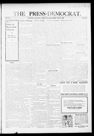 Primary view of object titled 'The Press-Democrat. (Hennessey, Okla.), Vol. 16, No. 43, Ed. 1 Friday, July 17, 1908'.