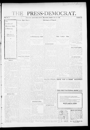 Primary view of object titled 'The Press-Democrat. (Hennessey, Okla.), Vol. 16, No. 44, Ed. 1 Friday, July 24, 1908'.