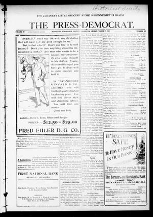 Primary view of The Press-Democrat. (Hennessey, Okla.), Vol. 18, No. 32, Ed. 1 Friday, March 31, 1911