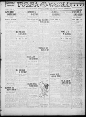 Primary view of object titled 'Tulsa Daily World (Tulsa, Okla.), Vol. 5, No. 280, Ed. 1 Friday, August 12, 1910'.