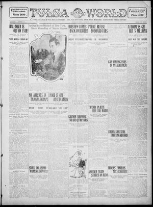 Primary view of object titled 'Tulsa Daily World (Tulsa, Okla.), Vol. 5, No. 281, Ed. 1 Saturday, August 13, 1910'.