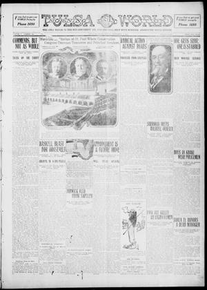 Primary view of object titled 'Tulsa Daily World (Tulsa, Okla.), Vol. 5, No. 300, Ed. 1 Sunday, September 4, 1910'.