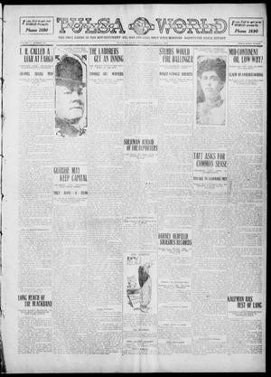 Primary view of object titled 'Tulsa Daily World (Tulsa, Okla.), Vol. 5, No. 301, Ed. 1 Tuesday, September 6, 1910'.