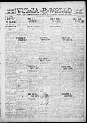 Primary view of object titled 'Tulsa Daily World (Tulsa, Okla.), Vol. 5, No. 316, Ed. 1 Friday, September 23, 1910'.