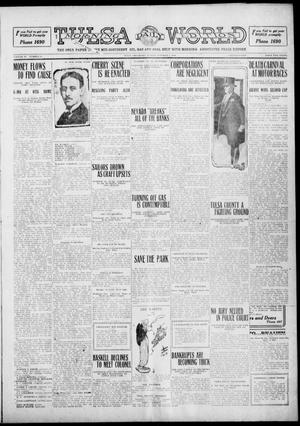 Primary view of object titled 'Tulsa Daily World (Tulsa, Okla.), Vol. 6, No. 11, Ed. 1 Sunday, October 2, 1910'.