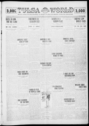 Primary view of object titled 'Tulsa Daily World (Tulsa, Okla.), Vol. 6, No. 22, Ed. 1 Saturday, October 15, 1910'.