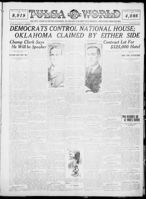 Primary view of object titled 'Tulsa Daily World (Tulsa, Okla.), Vol. 6, No. 43, Ed. 1 Wednesday, November 9, 1910'.
