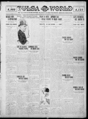 Primary view of object titled 'Tulsa Daily World (Tulsa, Okla.), Vol. 6, No. 50, Ed. 1 Thursday, November 17, 1910'.