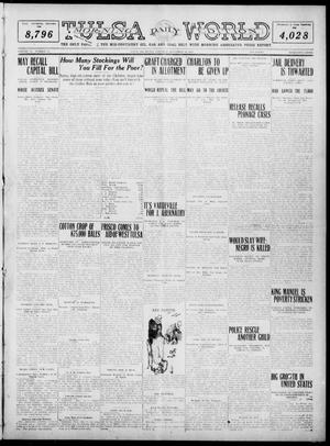 Primary view of object titled 'Tulsa Daily World (Tulsa, Okla.), Vol. 6, No. 70, Ed. 1 Saturday, December 10, 1910'.