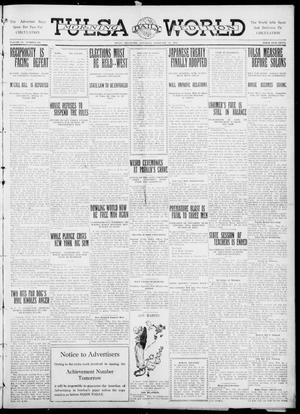 Primary view of object titled 'Tulsa Daily World (Tulsa, Okla.), Vol. 6, No. 136, Ed. 1 Saturday, February 25, 1911'.