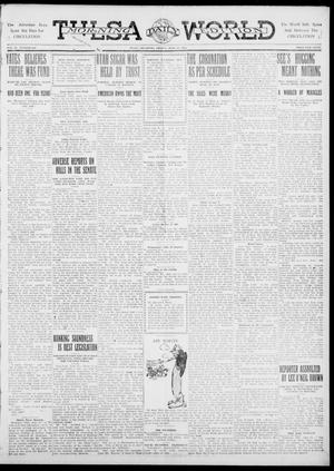 Primary view of object titled 'Tulsa Daily World (Tulsa, Okla.), Vol. 6, No. 239, Ed. 1 Friday, June 23, 1911'.