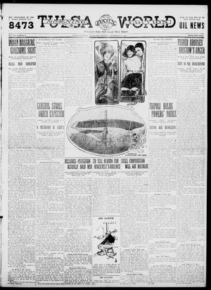 Primary view of object titled 'Tulsa Daily World (Tulsa, Okla.), Vol. 7, No. 9, Ed. 1 Wednesday, September 27, 1911'.