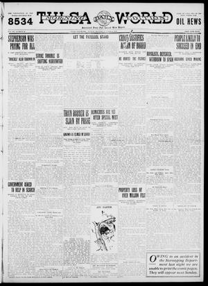 Primary view of object titled 'Tulsa Daily World (Tulsa, Okla.), Vol. 7, No. 19, Ed. 1 Sunday, October 8, 1911'.