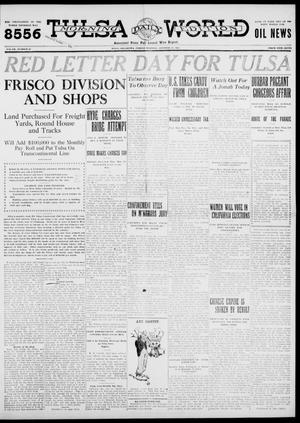 Primary view of object titled 'Tulsa Daily World (Tulsa, Okla.), Vol. 7, No. 22, Ed. 1 Friday, October 13, 1911'.
