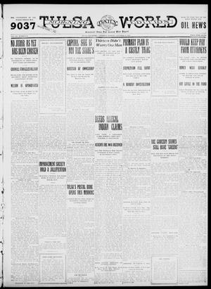 Primary view of object titled 'Tulsa Daily World (Tulsa, Okla.), Vol. 7, No. 23, Ed. 1 Saturday, October 14, 1911'.